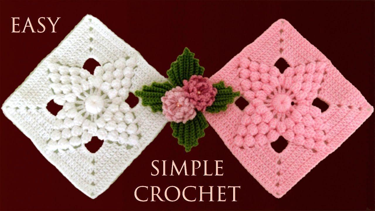 Como Tejer A Crochet Paso A Paso Un Cuadrado Para Tapete Camino De Mesa Cobijas En 2020 Tutorial De Tejido A Ganchillo Cuadrados De Ganchillo Tapetes Tejidos A Crochet