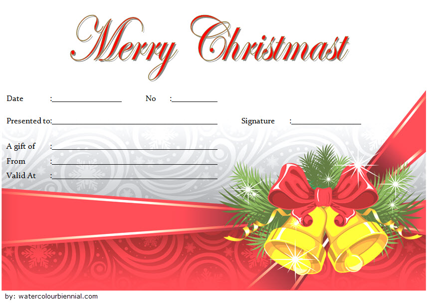 Merry Christmas Gift Certificate Template Free 1