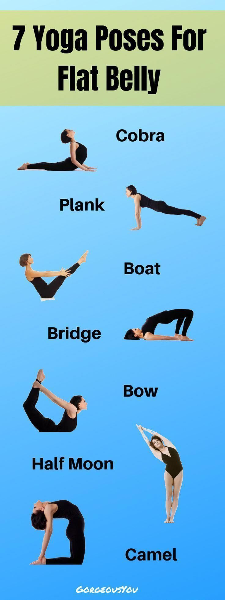 These seven yoga poses are extremely helpful to tighten the abdominal section. #yoga #zen #fitness #...