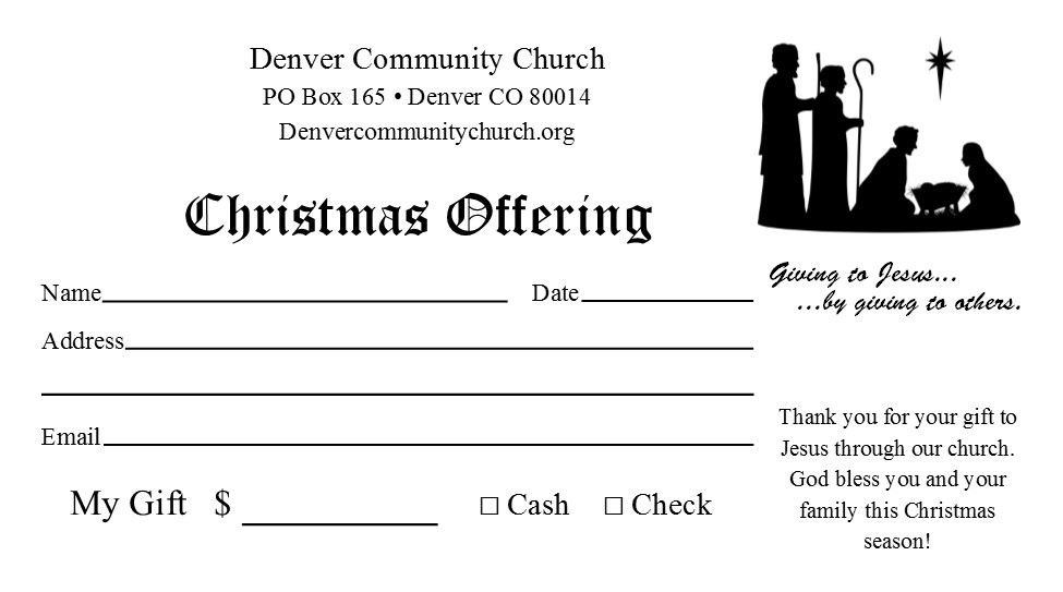 Christmas Offering Templates FREE Publisher Templates #1 - KJV - remittance template