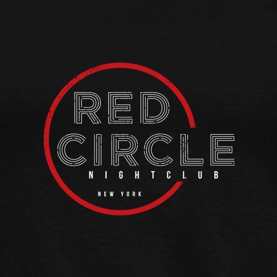 Red Circle Nightclub T Shirt Male