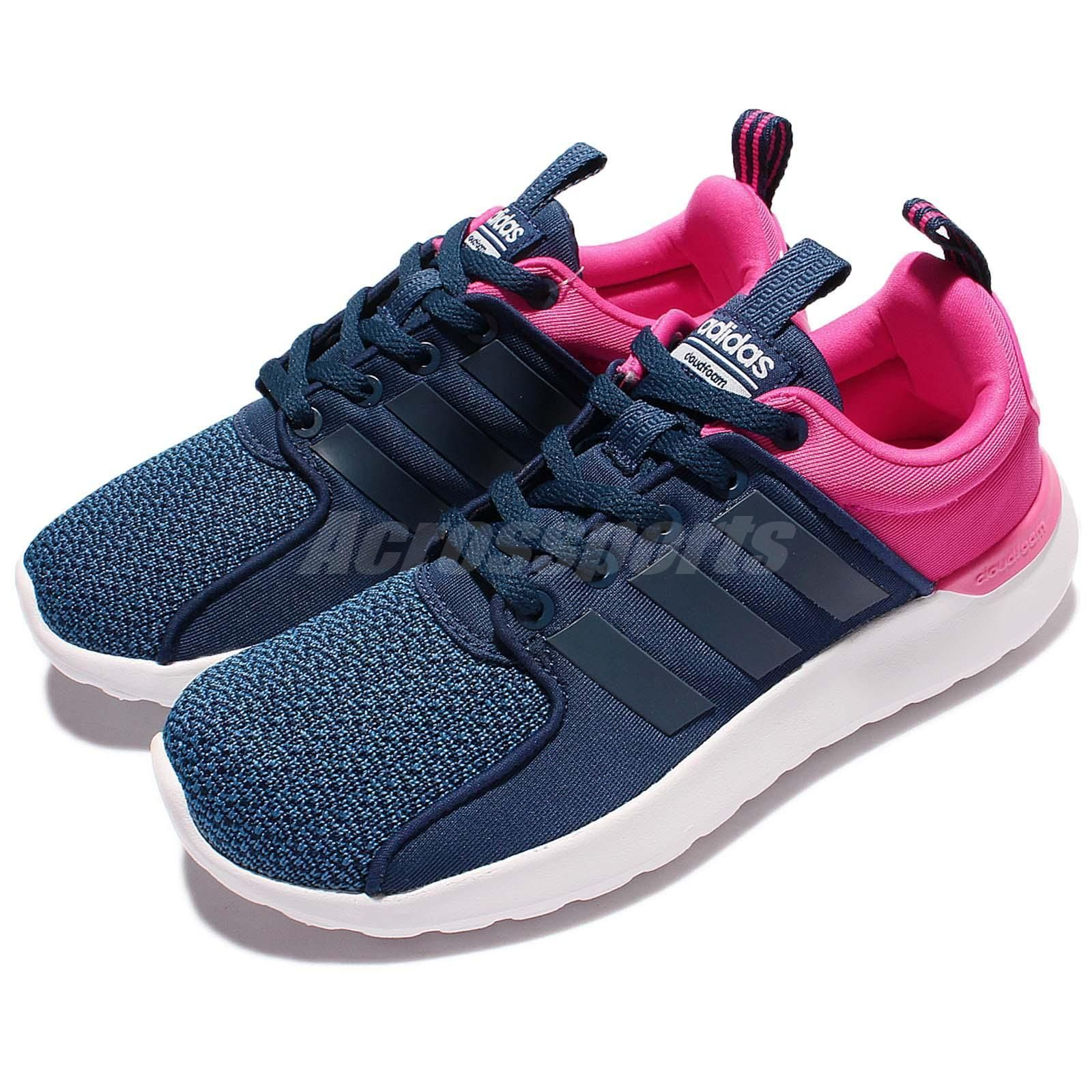 72898d95153 adidas Cloudfoam Lite Racer W Blue Pink Women Running Shoes Sneakers AW4025