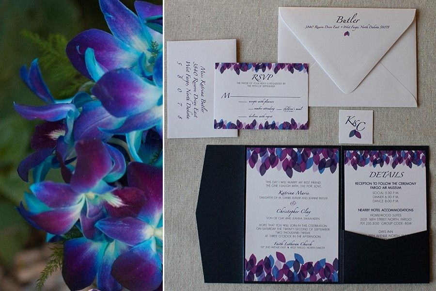 purple and turquoise wedding invitations - Purple And Turquoise ...