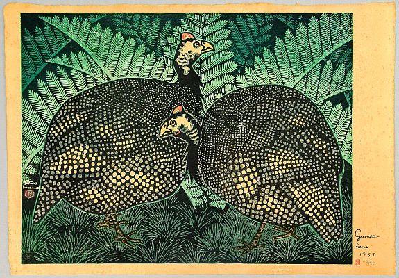 Shiro Kasamatsu 1898-1992 - Guinea Hens