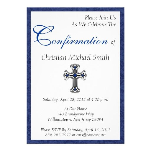Confirmation Invite Sponsor Gifts