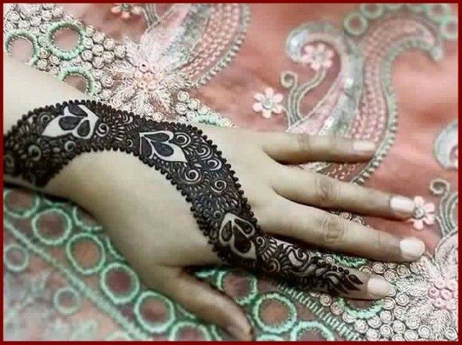 Mehndi Simple Arabic Designs For Hands : Pretty arabic henna how to do simple mehendi design easy elegant