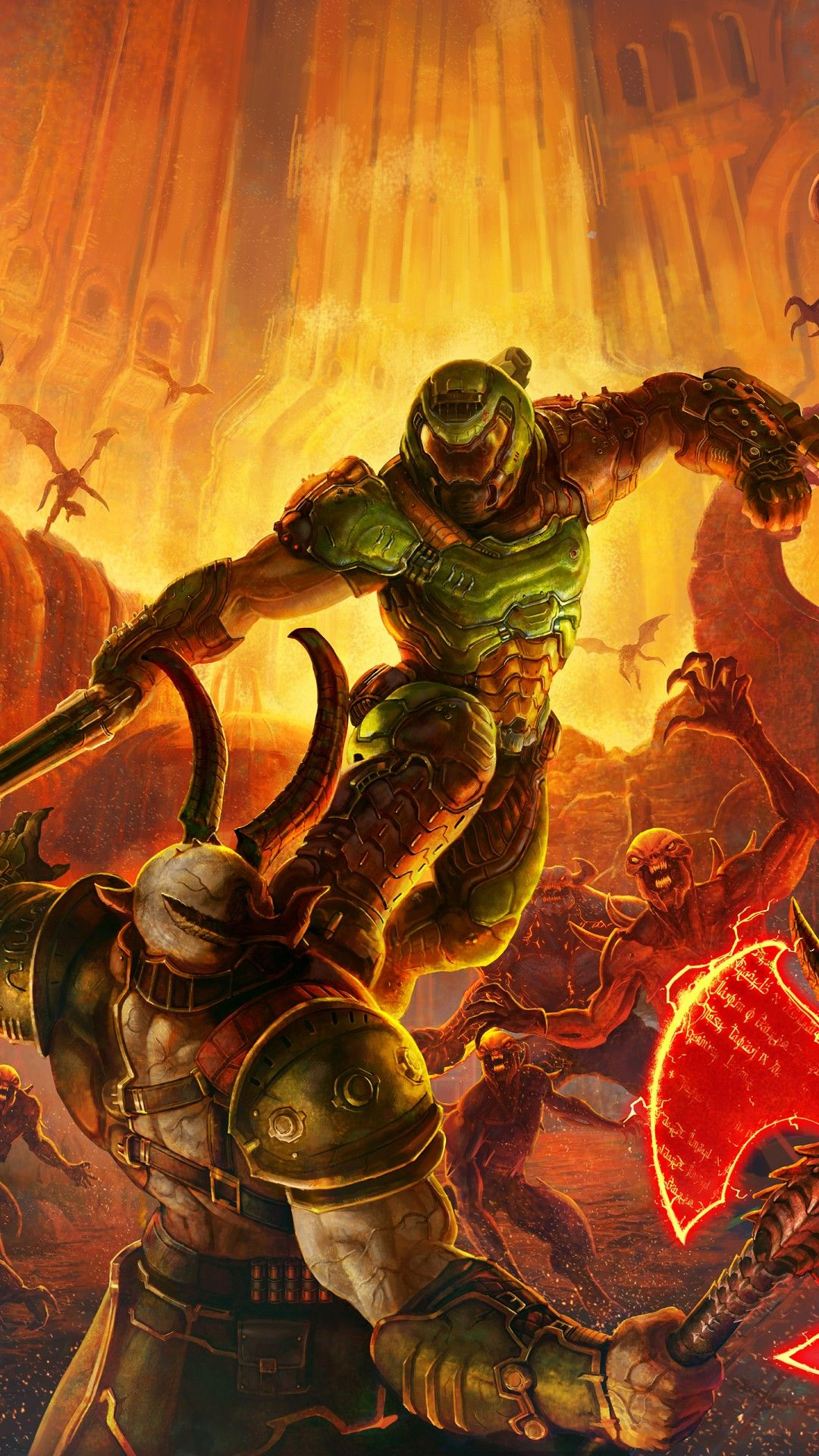 Android Doom Phone Wallpaper 3d Wallpapers Doom Videogame Doom Doom 1993