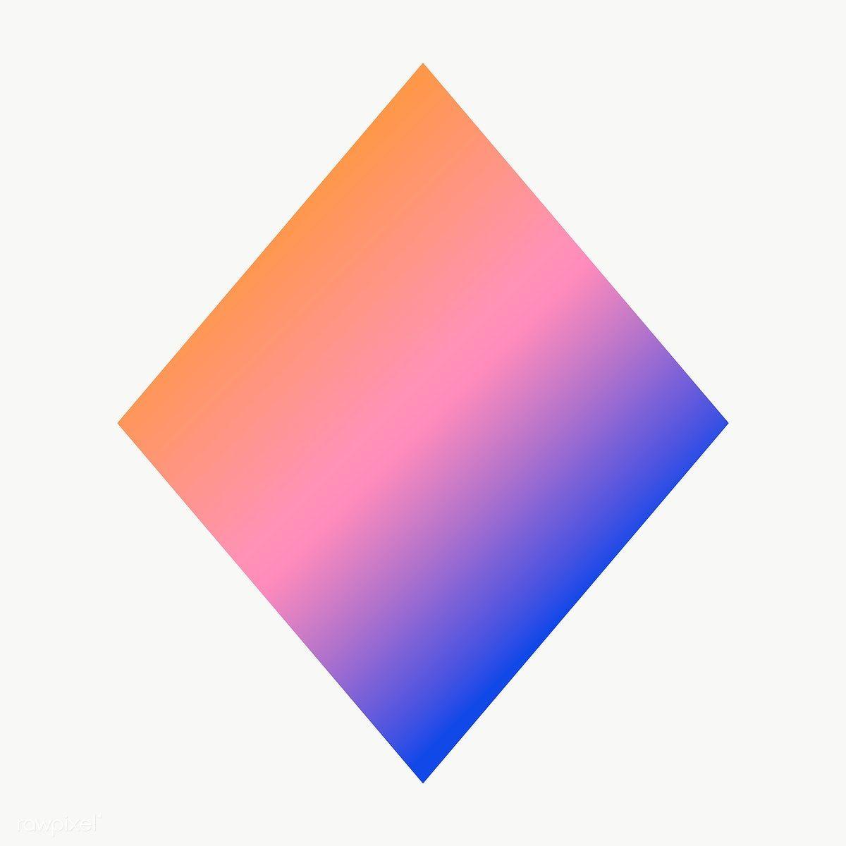 Gradient Rhombus Geometric Shape Transparent Png Free Image By Rawpixel Com Ningzk V Geometric Shapes Printable Designs Geometric