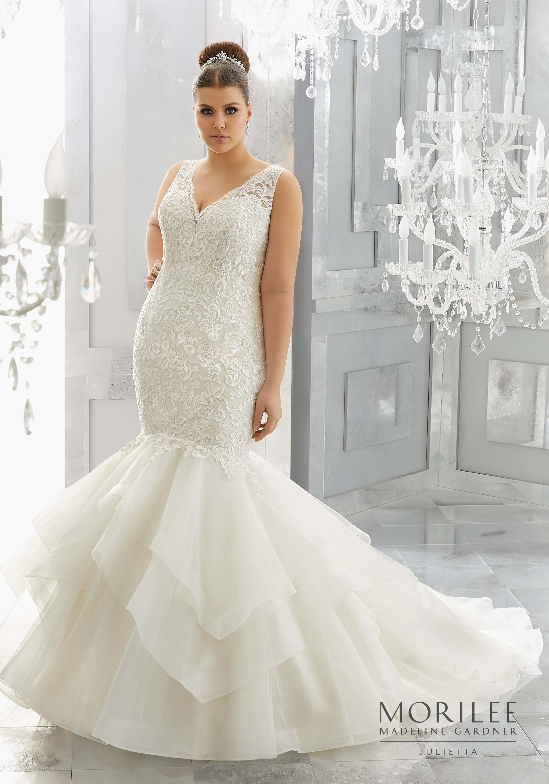 Mori lee madeline gardner wedding dress  Morilee  Madeline Gardner Miliana Plus Size Wedding Dress Shown