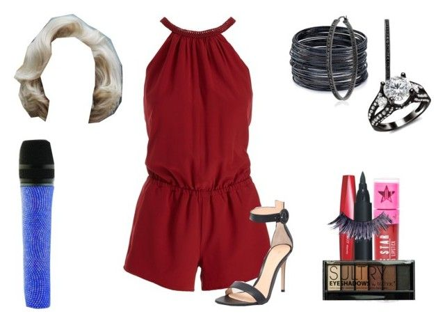 """""""Lillian Lockstar In """"Good Luck"""""""" by shestheman01 ❤ liked on Polyvore featuring Imju Fiberwig, Joie, Gianvito Rossi, Jeffree Star, Manic Panic NYC, ABS by Allen Schwartz, Boohoo, Swarovski and Bling Jewelry"""