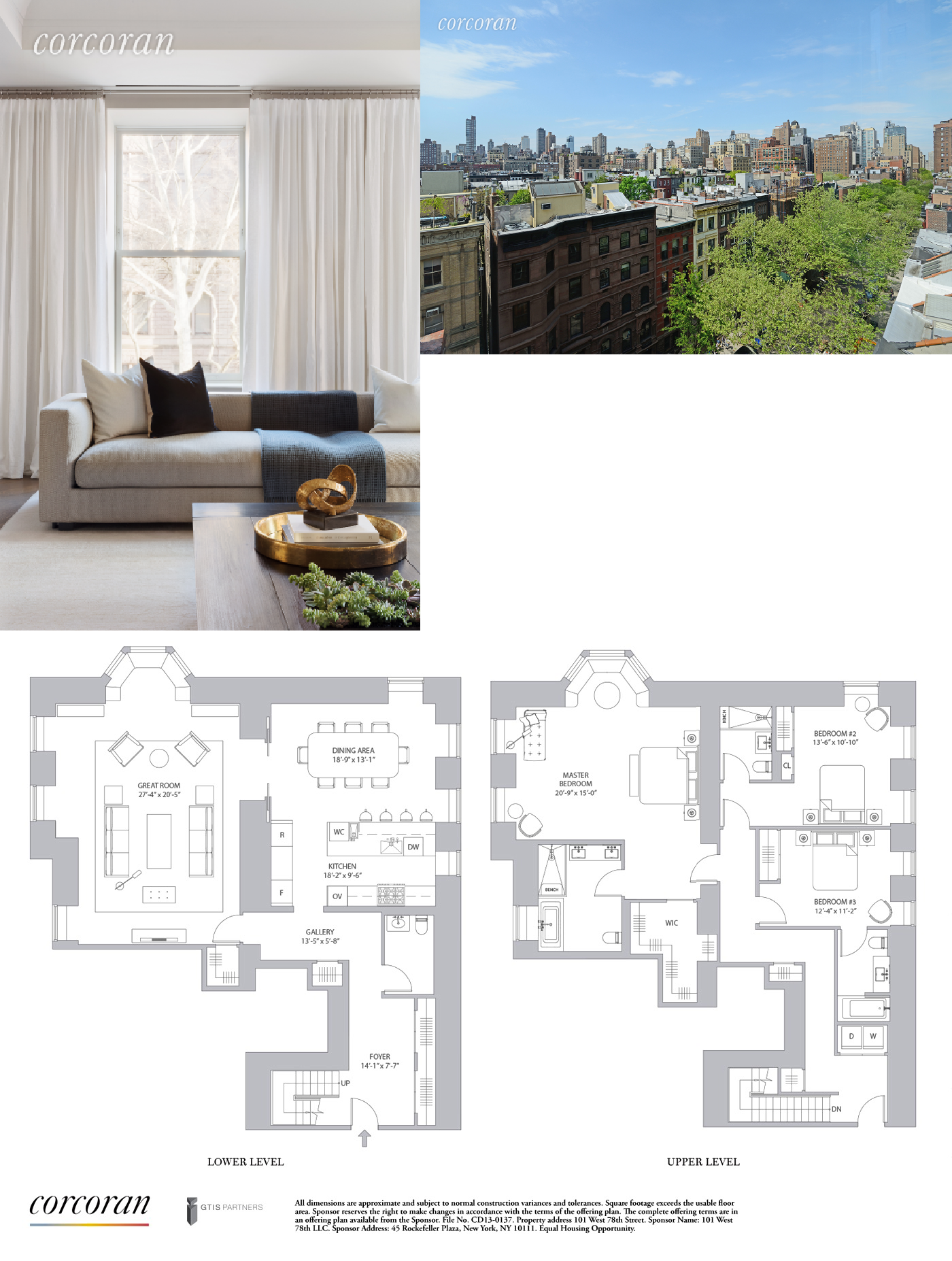 Corcoran 101 West 78th Street Apt 6c Upper West Side Real Estate Manhattan For Sale Homes Upper Luxury Floor Plans House Layout Plans New York Townhouse