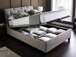 Kaydian Brunel Linen Super King Size Ottoman Bed Bedroom