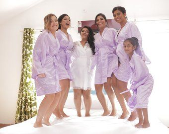 Bridesmaid Robes Lavender Lilac wedding robes bridesmaid silk robe dressing  gown personalized silk robe kimono robes floral robe bridal robe ef7267e14