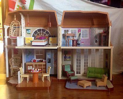 Disney Hannah Montana Friends Malibu Beach Dream Doll House Barbie Dollhouse | eBay