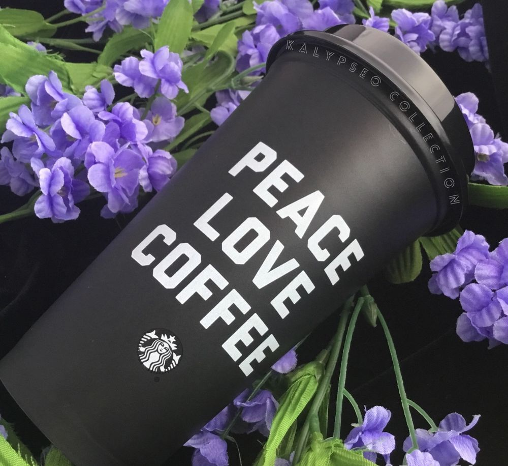 New Starbucks 2018 Reusable To Go Cup w Lid Matte Black