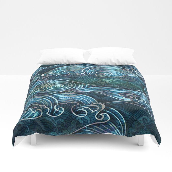 Waves Duvet Cover Duvet Covers Duvet Blanket