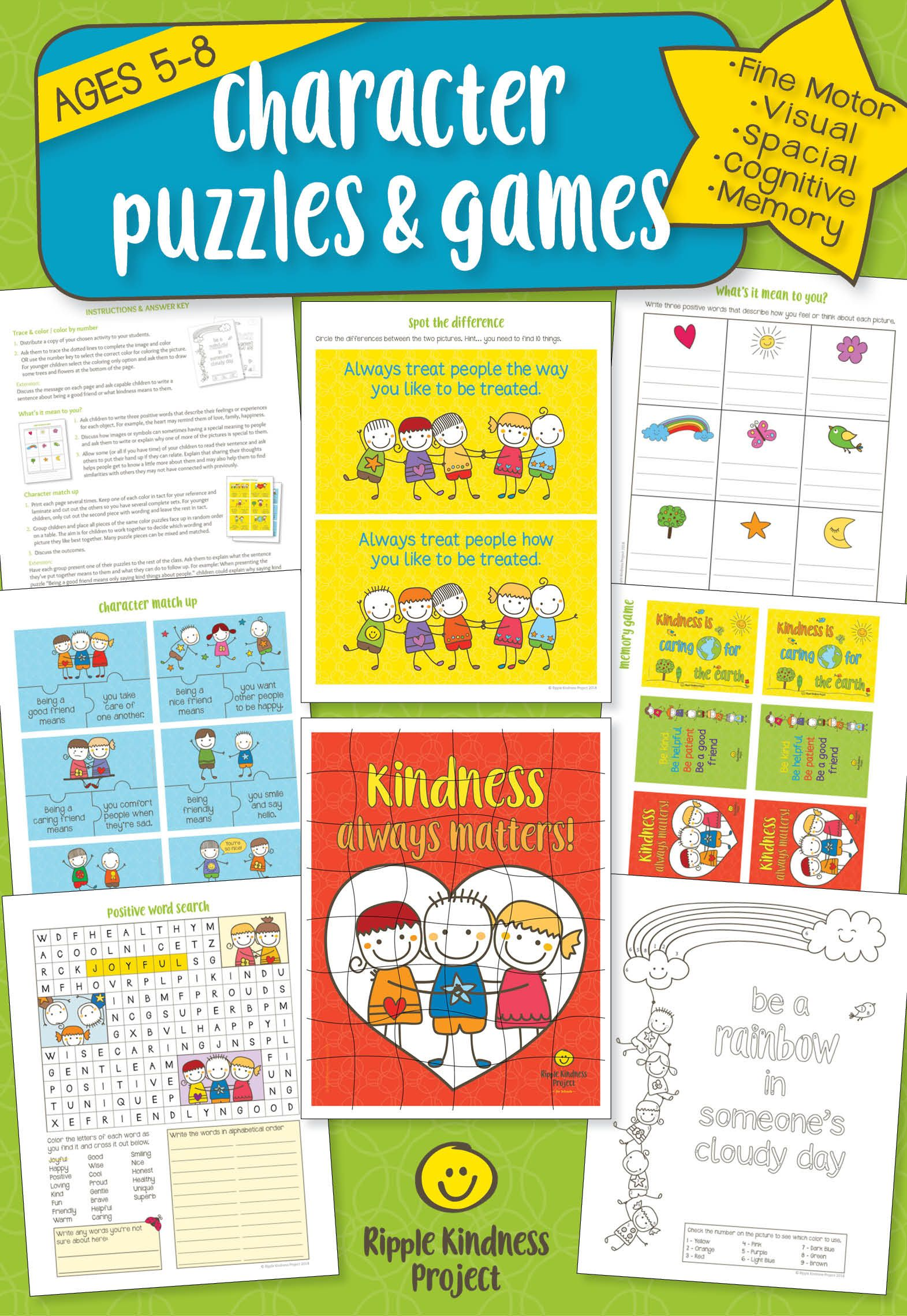 Character Education Puzzles Games Spot The Difference