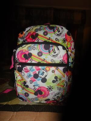 mickey minnie back pack never used