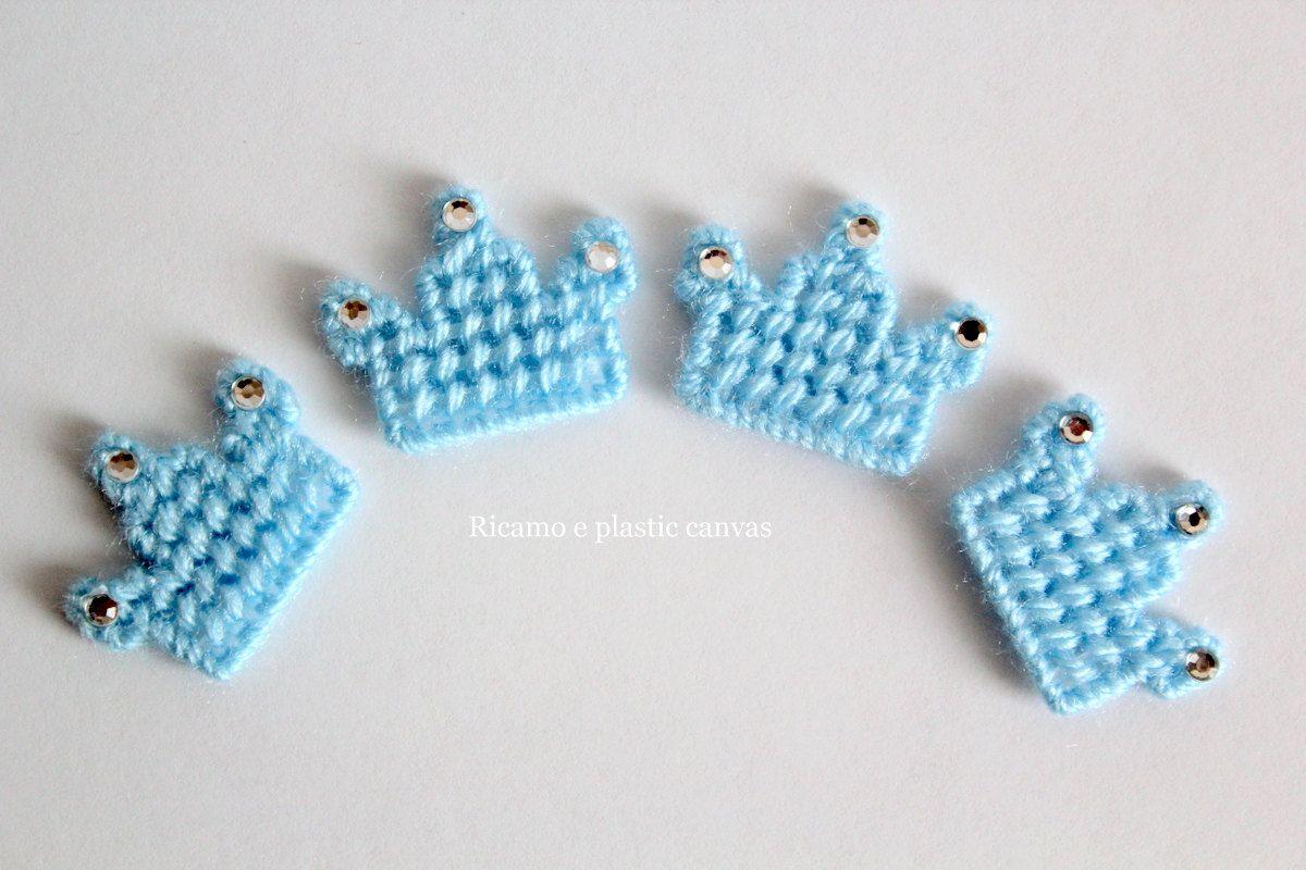 Corona applique corona azzurra decorazioni per spille decorazioni