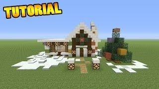 Minecraft Tutorial How To Make A Christmas House Minecraft Houses - Minecraft spiele videos