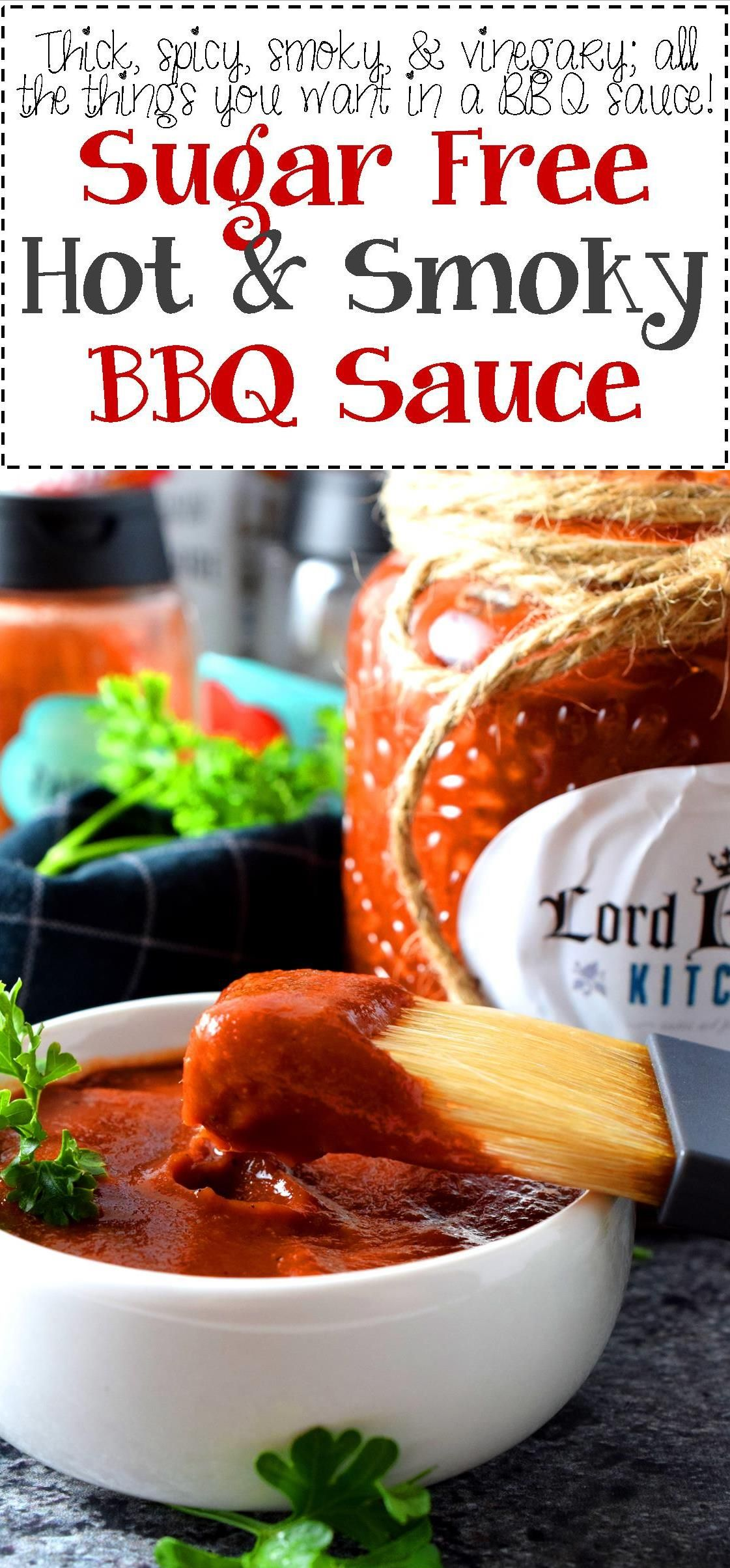 Sugar Free Hot and Smoky Barbeque Sauce - A good barbeque sauce needs to be smoky, it needs to be hot and spicy, it needs to be thick, and have a deep, ...