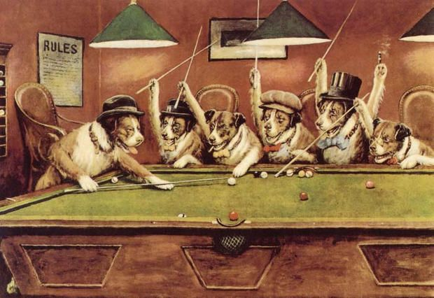 Dogs Playing Poker Tapestry Value