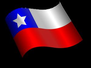 Publicdomainvectors Org Ondulado Bandera De Chile Bandera De
