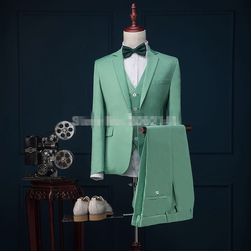 Click to Buy << High Quality Mint Green men suits Gentlemen Style ...