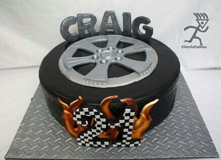 Pin By Megan Labuschagne On Cakes For Men Tire Cake