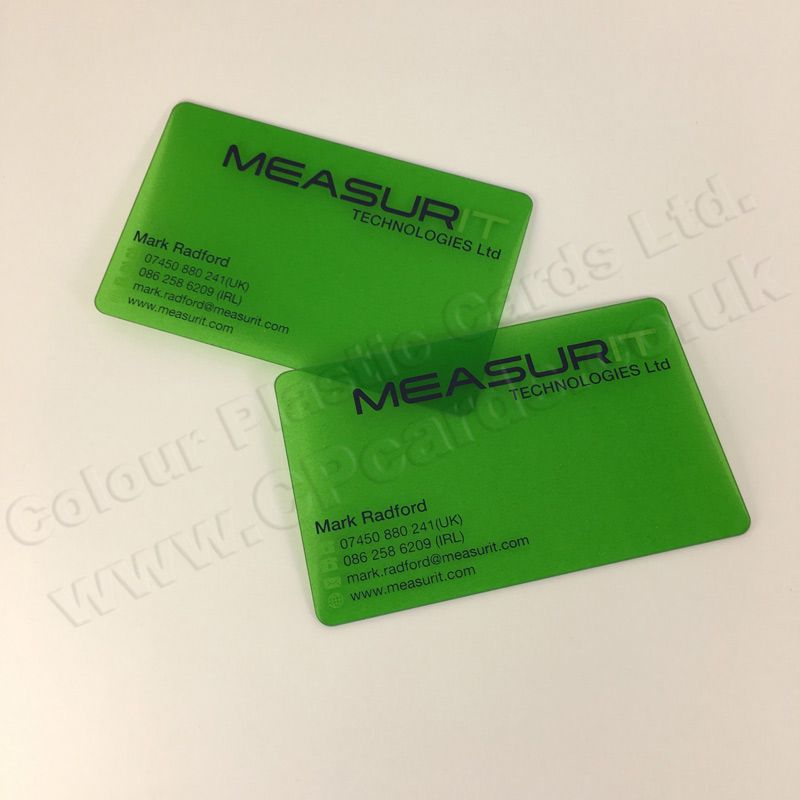 Frosted Translucent Plastic Business Cards We Offer Free Artwork And Free Delivery Within Engla Plastic Business Cards Free Artwork Transparent Business Cards