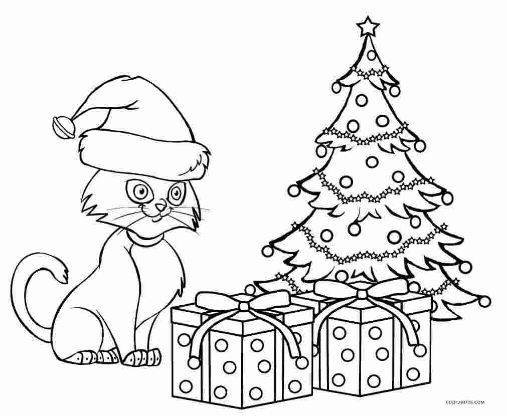 Christmas Cat Coloring Pages Though Referred To As An Ancient Tradition Written Accounts Of