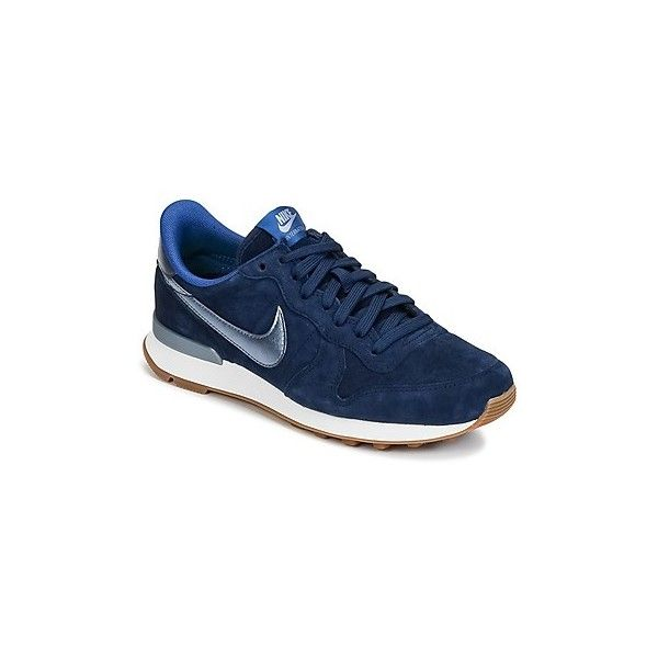 half off 042dc 0e2a9 Nike INTERNATIONALIST PREMIUM SUEDE W Shoes (Trainers) (1.545 ARS) ❤ liked  on Polyvore featuring shoes, sneakers, blue, trainers, women, nike, ...