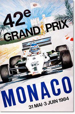 1984 Formula 1 Monaco GP Poster #F1 #SMDriver   ポスター ...