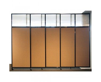 Sliding wall with opaque top