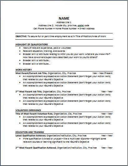 Samples Of Chronological Resumes Chronological  Pinterest  Sample Resume