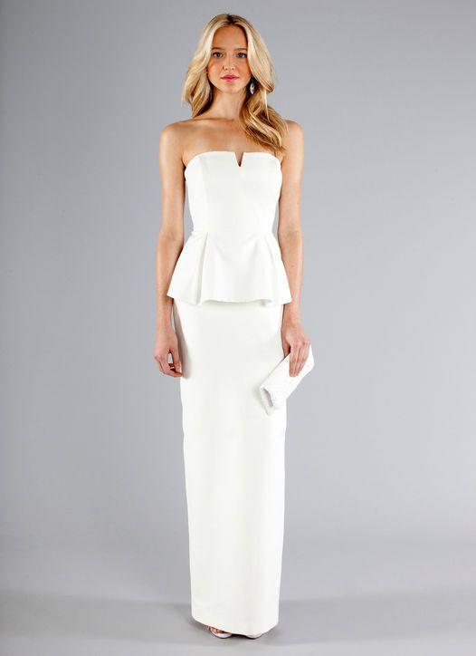 Nicole Miller wedding dress, peplum, Nicole Miller style FA0039 gown ...