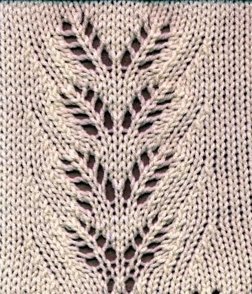 Rowans Leaves Lace Pattern From Kathleen Kinders Book The