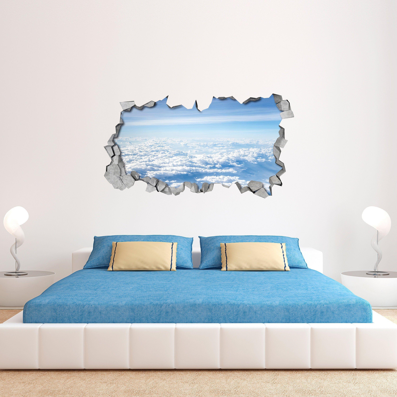 White Clouds Broken Wall Decal 3d Wallpaper 3d Wall Decals