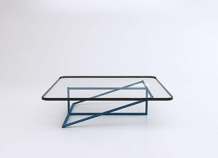 Mesa de Centro en Vidrio y Acero, Muebles Geometricos 1 Design