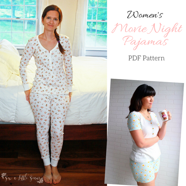 Women\'s Movie Night Pajamas PDF Pattern | Pinterest | Regenbogen ...