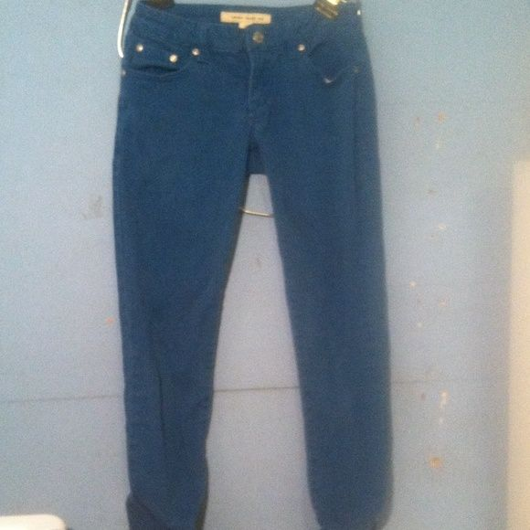 Forever 21 jeans! Teal colored, Forever 21 jeans. Look great with any white blouse! Forever 21 Jeans Skinny