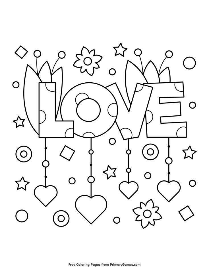 Valentine's Day Coloring Pages eBook: Love | Coloring opp 2 ...