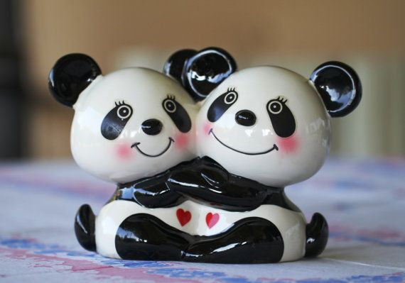Child's Bank // Hugging Pandas Kid's Bank // Made in Japan, $10.00