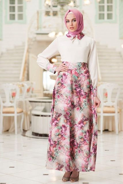 Robe hijab turque moderne, style hijab 2015 , 2016