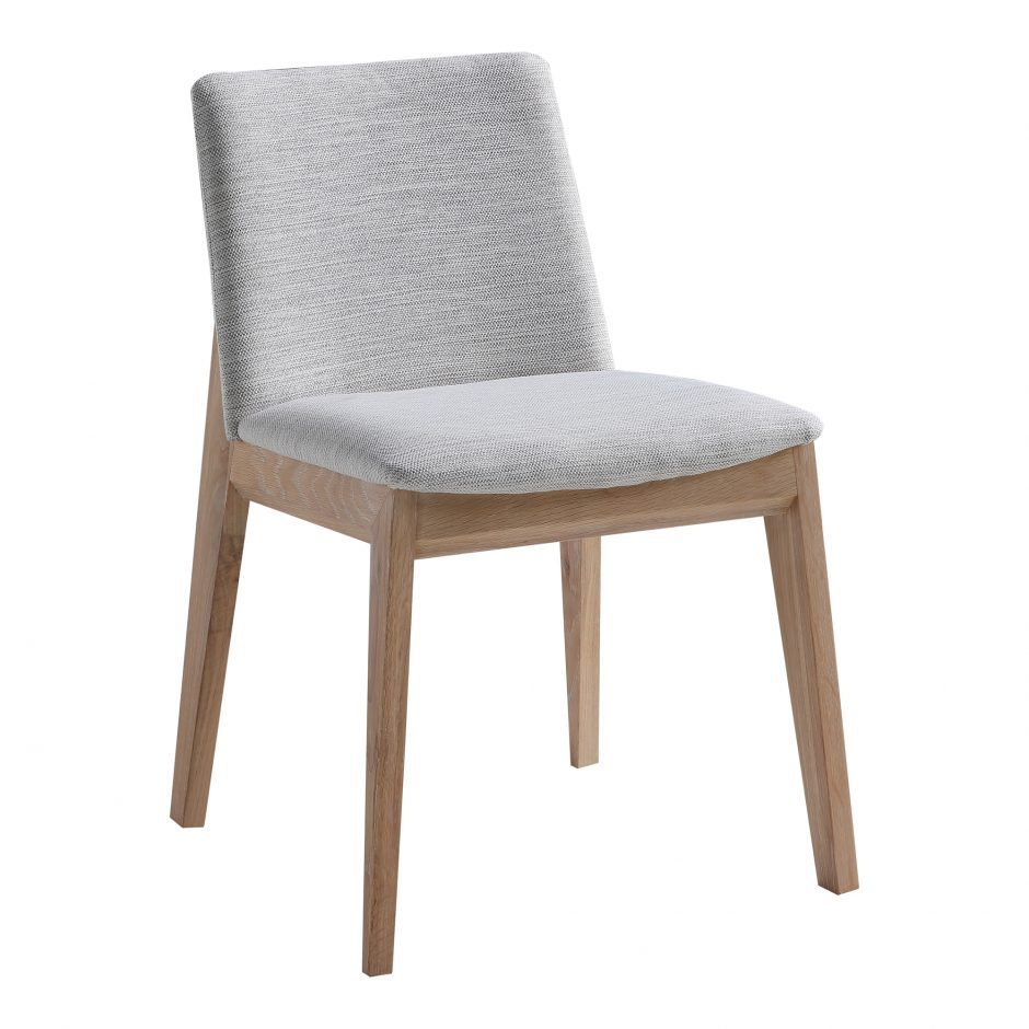 Deco Oak Dining Chair Light Grey M2 Products Moe S Wholesale Oak Dining Chairs Fabric Dining Chairs Black Dining Chairs Modern