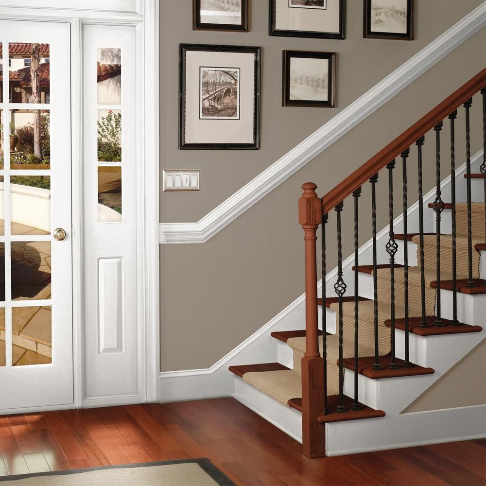 Behr Premium 1 Gal Ultra Pure White Base Semi Gloss Interior Cabinet And Trim Paint 712001 The Home Depot In 2021 House Paint Interior Home Painting Trim