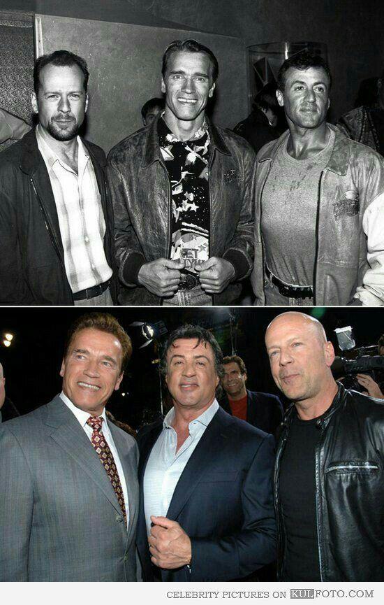 When Bruce had hair.   Action movie stars, Movie stars, Sylvester ...