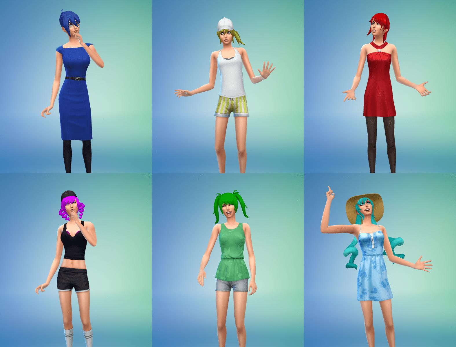 Yandere Simulator Rainbow Six Girls Hair Bundle for Sims 4