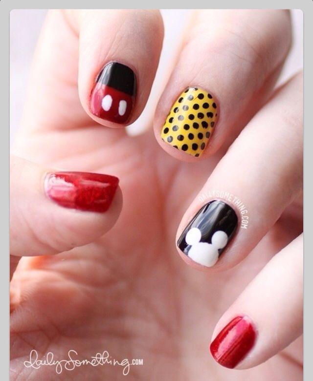 Mike mause cute!! | Uñas | Pinterest | Diseños de uñas, Manicuras y ...