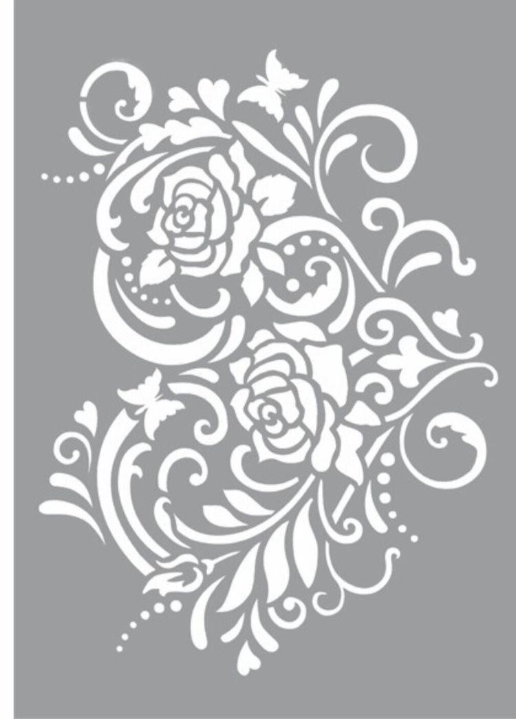 Cbb458fd1604100cd325130d686e174f Jpg 750 1 044 Pixels Stencils Printables Flower Stencil Rose Stencil